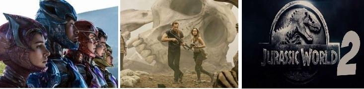 Power Rangers', Jurassic World 2, Kong: Skull Island