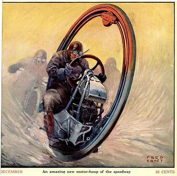 Está todo inventado: la moto de una rueda de 'Men in Black' ya existía en 1923